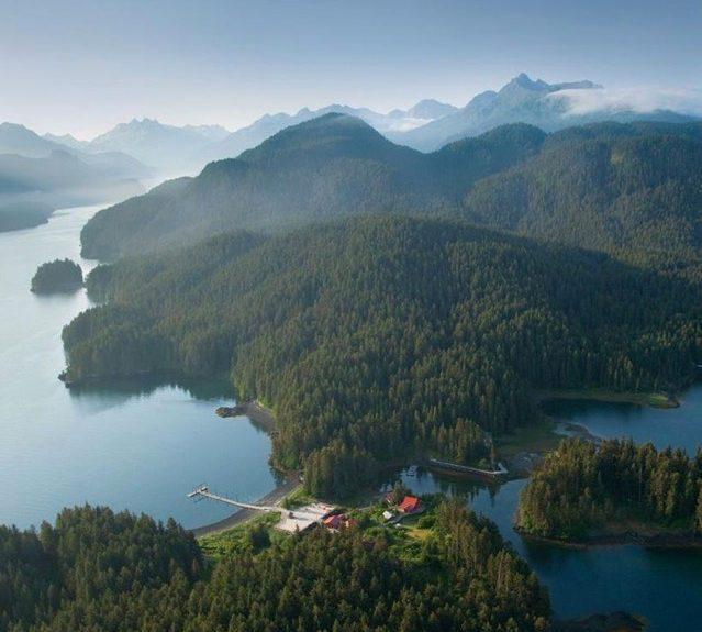 Aerial Shot of Alaskan mountains and lakes