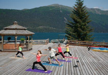 Yoga at Tutka Bay, Alaska Wilderness Lodge