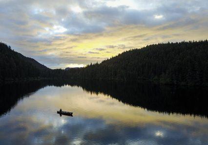 Canoeing Tutka Lake